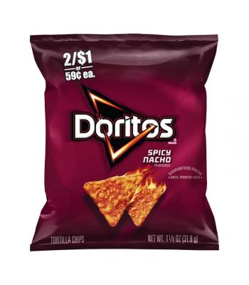 Doritos Spicy Nacho Tortilla Chips - 1.125oz (31.8g) Snacks and Chips Doritos