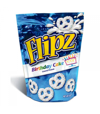 DeMet's Flipz Birthday Cake Covered Pretzels 5oz (141g) Pretzel Snacks DeMet's