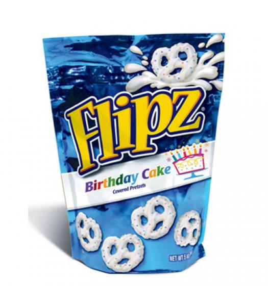 DeMet's Flipz Birthday Cake Covered Pretzels 5oz (141g) Pretzel Snacks DeMet's