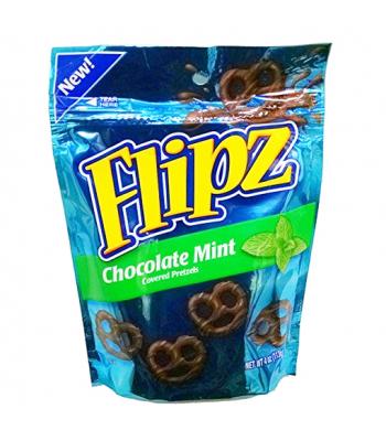 DeMet's Flipz Milk Chocolate Mint Covered Pretzels 4oz (113g)