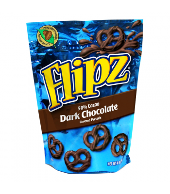 Demets Dark Chocolate Pretzel Flipz 4oz (113g) Pretzel Snacks DeMet's