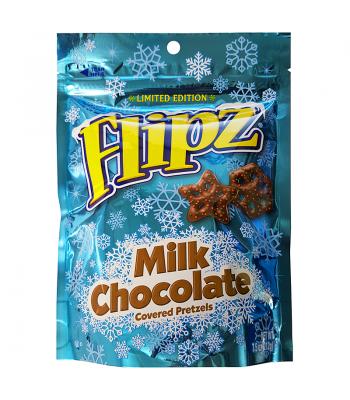 Flipz Holiday Pretzels - Milk Chocolate - 7.5oz (212g) Pretzel Snacks DeMet's