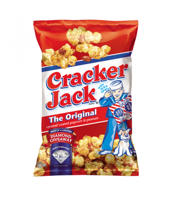 Frito Lay Cracker Jack Original Caramel Coated Popcorn & Peanuts 3.125oz (88.5g) Snacks and Chips Frito-Lay