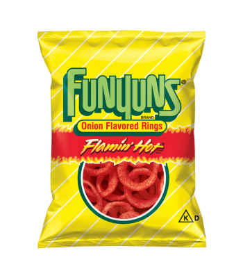 Clearance Special - Funyuns Onion Rings - Flamin' Hot - HUGE Bag 5.75oz (163g) **Best Before: 31 August 21** Clearance Zone