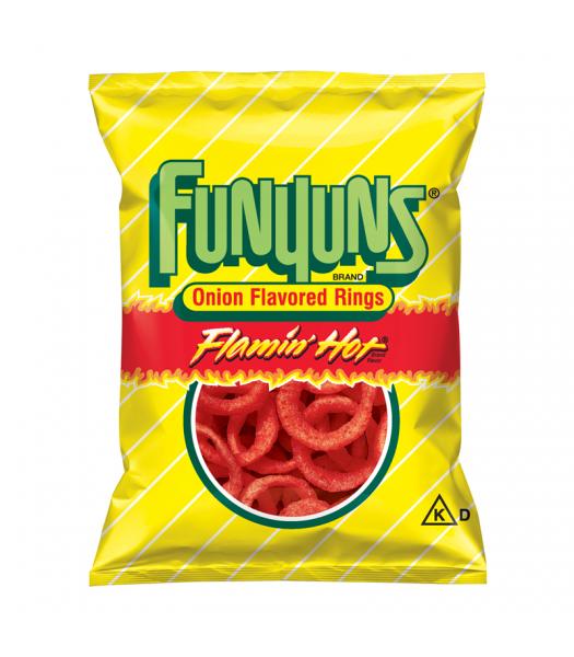 Funyuns Onion Rings - Flamin' Hot - HUGE Bag 5.75oz (163g) Snacks and Chips Frito-Lay