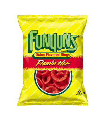Frito Lay Funyuns Flamin Hot Onion Rings 0.75oz (21.2g) Crisps & Chips Funyuns