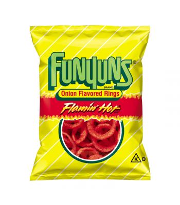 Frito Lay Funyuns Flamin Hot Onion Rings 0.75oz (21.2g) Crisps & Chips Funyuns