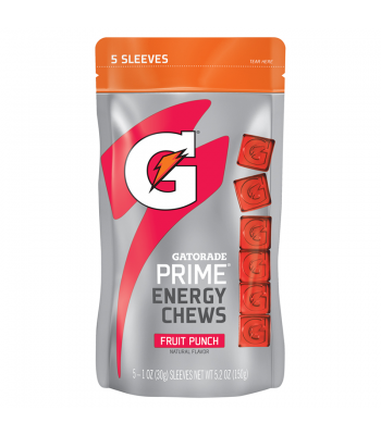 Clearance Special - Gatorade Energy Chews 5.2oz Fruit Punch ** Best Before January 2017 ** Clearance Zone