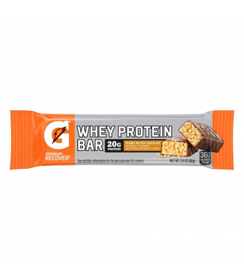 Gatorade Whey Protein Bar - Peanut Butter Chocolate - 2.8oz (80g) Sweets and Candy Gatorade