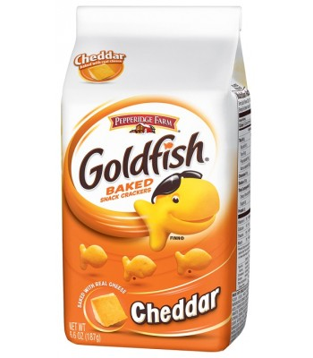 Pepperidge Farm Goldfish Crackers Cheddar Flavour 6.6oz (187g) Snacks and Chips Pepperidge Farm