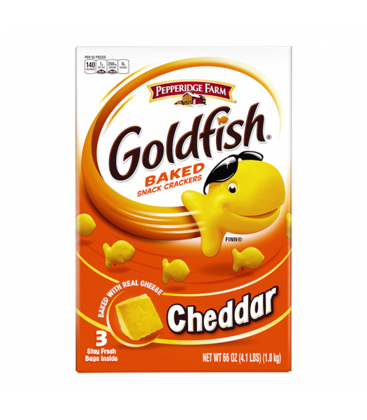 Pepperidge Farm Goldfish Cheddar - 66oz (4.1lbs)(1.8kg) Snacks and Chips Pepperidge Farm