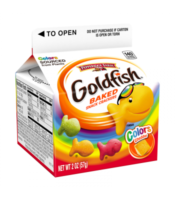 Pepperidge Farm Goldfish Crackers Colours Carton - 2oz (57g) Snacks and Chips Pepperidge Farm