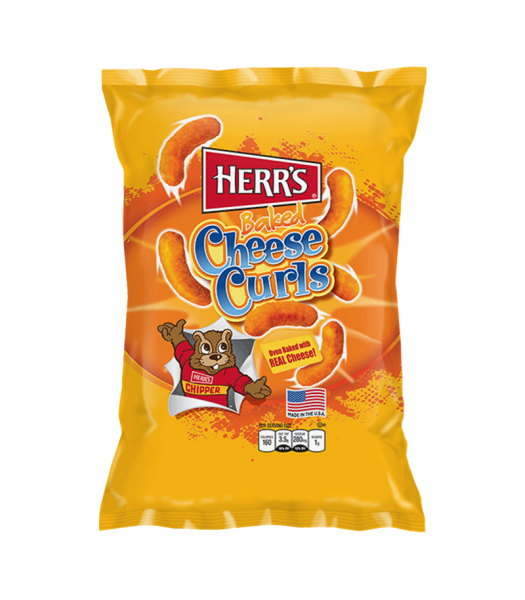 Herr's Baked Cheese Curls - 7oz (198g) Snacks and Chips Herr's