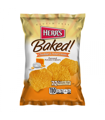 Clearance Special - Herr's Baked! Cheddar & Sour Cream - 2.125oz (60g) **Best Before: 16 October 20** Clearance Zone