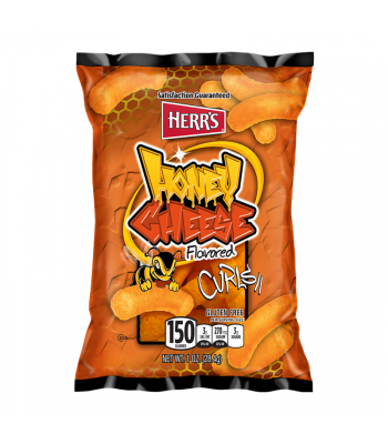 Herr's Honey Cheese Flavoured Curls - 1oz (28.4g) Snacks and Chips Herr's