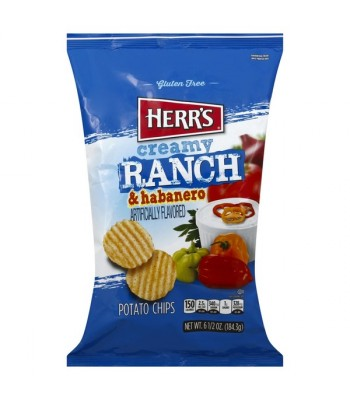 Herr's Creamy Ranch & Habanero Potato Chips - 6.5oz (184.3g) Snacks and Chips Herr's
