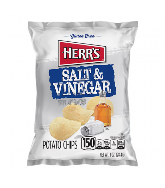 Clearance Special - Herr's Salt & Vinegar Potato Chips - 1oz (28.4g) **Best Before: March 2020** Clearance Zone