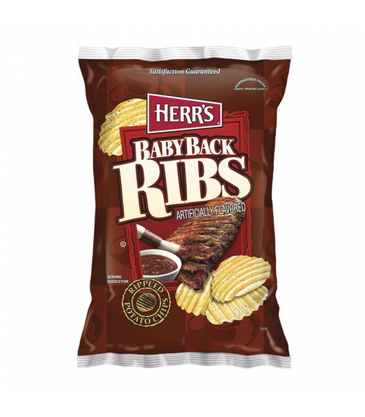 Herr's Baby Back Ribs Potato Chips 6.5oz (184.3g) Snacks and Chips Herr's