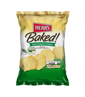Herr's Baked! Sour Cream & Onion Potato Crisps - 8oz (226.8g) Snacks and Chips Herr's