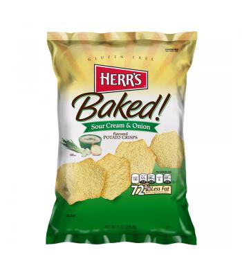 Herr's Baked! Sour Cream & Onion Potato Crisps - 8oz (226.8g) Snacks and Chips Herr's