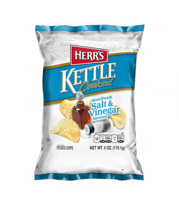 Herr's Boardwalk Salt & Vinegar Kettle Cooked Potato Chips - 6oz (170.1g) Snacks and Chips Herr's