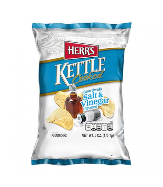 Herr's Boardwalk Salt & Vinegar Kettle Cooked Potato Chips - 6oz (170.1g) Snacks and Chips Herr's