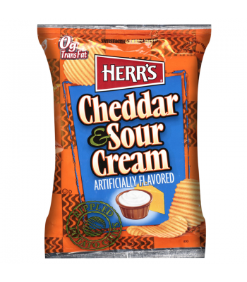 Clearance Special - Herrs Cheddar & Sour Cream 78g ** October 2016 ** Clearance Zone