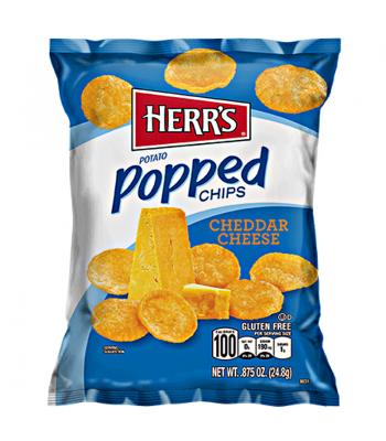 Herr's Popped Chips - Cheddar Cheese 0.875oz (24.8g) Crisps & Chips Herr's