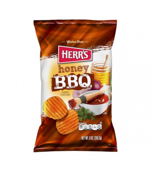 Herr's Chips Honey BBQ - 9oz (255.2g) Snacks and Chips Herr's