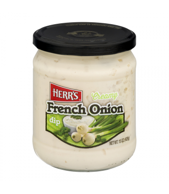 Herr's Creamy French Onion Dip - 15oz (425g) Snacks and Chips Herr's