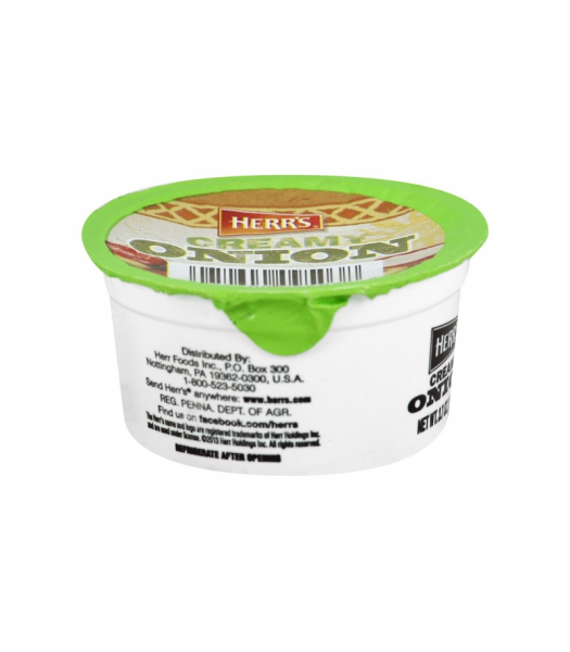 Clearance Special - Herr's Creamy Onion Dip Cup - 3.7oz (105g) **Best Before: May 21** Clearance Zone