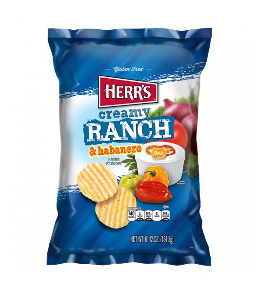Herr's Creamy Ranch & Habanero Potato Chips - 6.5oz (184.3g) Snacks and Chips Herr's