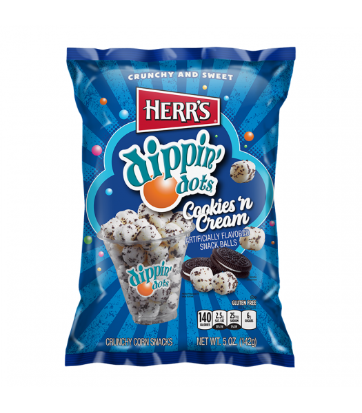 Herr's Dippin Dots Cookies & Cream Snack Balls 5oz (142g) Sweets and Candy Herr's
