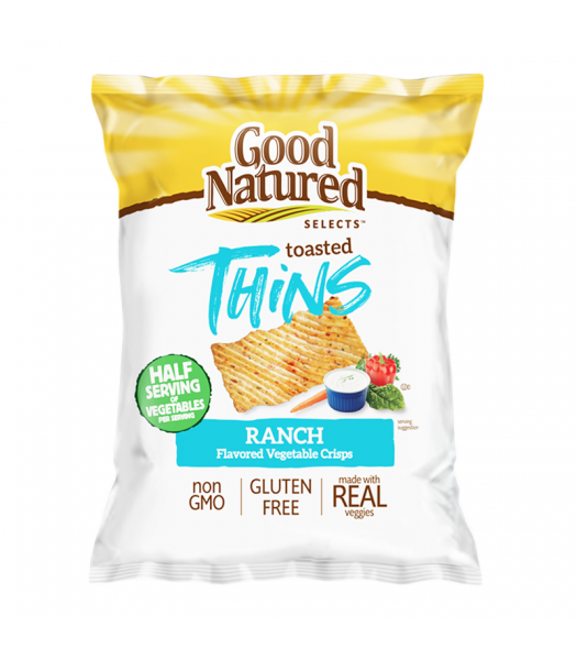 Herr's Good Natured Selects Toasted Thins Ranch Flavoured Veggie Crisps - 1oz (28g) Snacks and Chips Herr's