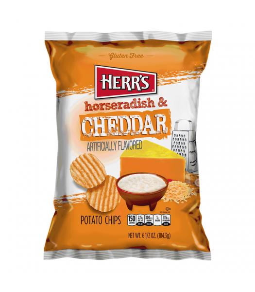 Herr's Horseradish & Cheddar Potato Chips - 6.5oz (184.3g) Snacks and Chips Herr's