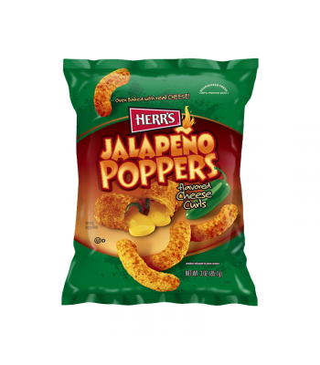 Herr's Jalapeño Cheese Curls - 3oz (85.1g) Snacks and Chips Herr's