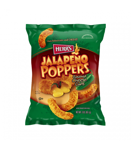 Herr's Jalapeño Poppers Cheese Curls - 3oz (85.1g) Snacks and Chips Herr's