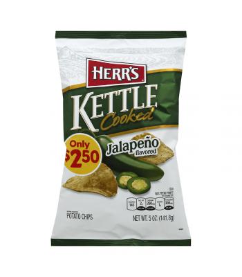 Herr's Jalapeno Kettle Cooked Potato Chips - 5oz (141.8g) Snacks and Chips Herr's