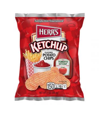 Herr's Ketchup Flavoured Potato Chips - 1oz (28.4g) Crisps & Chips Herr's