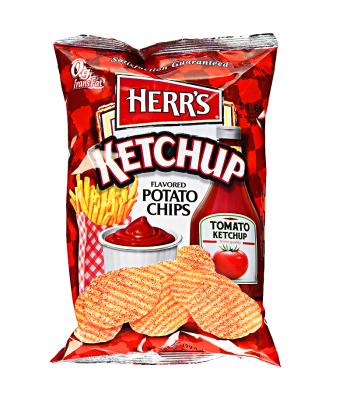 Herr's Tomato Ketchup Flavoured Potato Chips 3.5oz (99.2g) Crisps & Chips Herr's