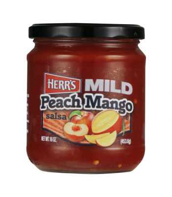 Herr's Mild Peach Mango Salsa - 16oz (453.6g) Snacks and Chips Herr's