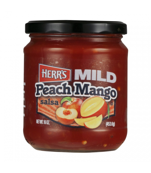 Herr's Mild Peach Mango Salsa - 16oz (453.6g) Snacks and Chips Herr's
