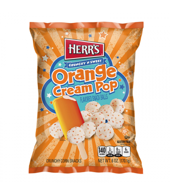 Clearance Special - Herr's Orange Cream Pop Balls - 6oz (170g) **Best Before: October 19** Clearance Zone