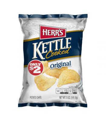 Herr's Original Kettle Cooked Potato Chips - 6oz (170.1g) Snacks and Chips Herr's