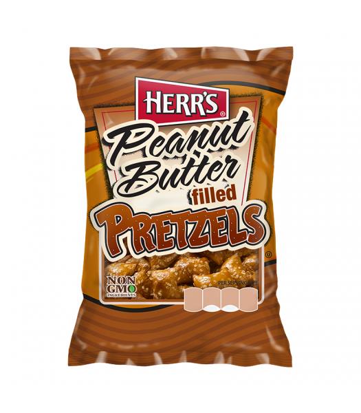 Herr's Peanut Butter Filled Pretzels - 2oz (57g) Snacks and Chips Herr's