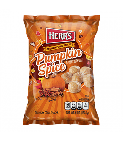 Herr's Pumpkin Spice Snack Balls - 6oz (170.1g) Snacks and Chips Herr's