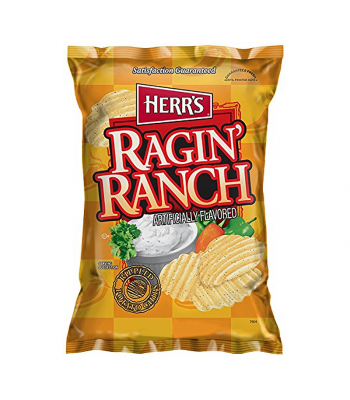 Herr's Ragin' Ranch Potato Chips - 7oz (198.5g) Snacks and Chips Herr's