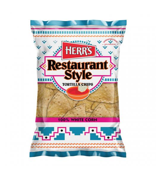 Herr's Restaurant Style White Corn Tortilla Chips - 9oz (255.2g) Snacks and Chips Herr's