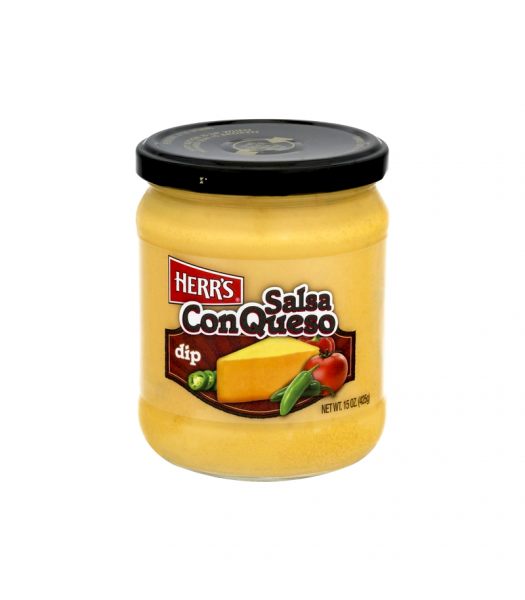 Herr's Salsa Con Queso Dip - 15oz (425g) Snacks and Chips Herr's