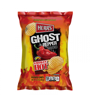 Herr's Smokin' Hot Ghost Pepper Potato Chips - 6.5oz (184.3g) Snacks and Chips Herr's